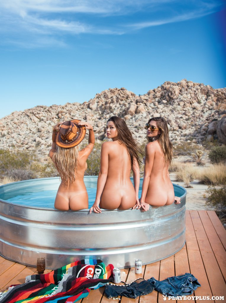 Chelsie Aryn, Dani Mathers, Maggie May – Bare-skinned Beauties nude for Playboy
