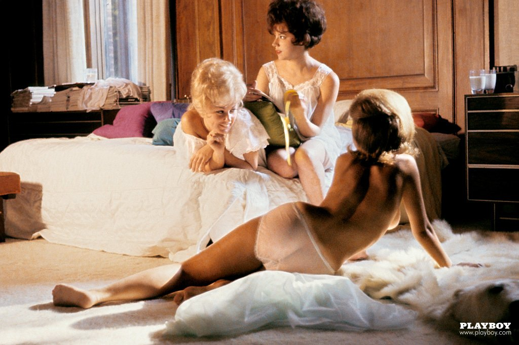 Playboy Features – Playmate Pillow Fight nude for Playboy