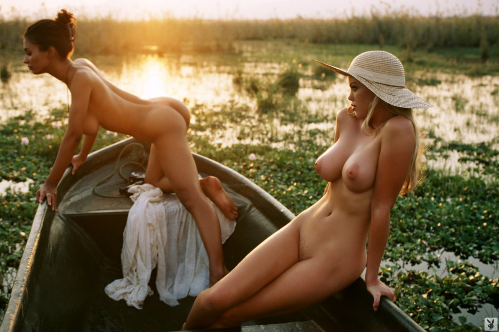Playboy Features – Playmates on Safari nude for Playboy